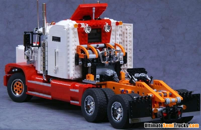 UltimateSemiTrucks.com: Lego Model Truck with Winch